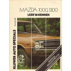 Mazda 1000/1300 Leer 'm kennen K. Ball  Benzine Kluwer 70-77 met gebruikssporen met notities  Nederlands
