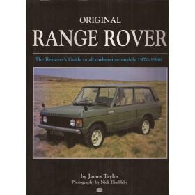 Range Rover Alle A restorer's guide to Authenticity J. Taylor  Benzine MBI 70-86 met gebruikssporen   Engels