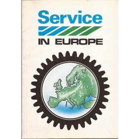 Austin British Leyland Dealerlijst Europa Fabrikant 79 met gebruikssporen Nederlands